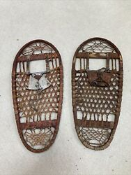 Us Wwii Snow Shoes By C.a. Lund. Hastings, Minnesota. Leather-wood 13 X 28