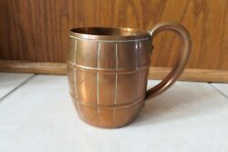 Vintage Copper Barrel Mugs Marked West Bend Moscow Mule Cup Solid