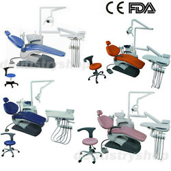 4 Types Dental Unit Chair Computer Controlled Automaticlly Hard Leather Fda Ce