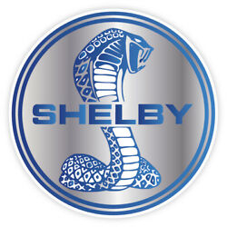 Cobra Shelby Ford Mustang GT Racing Vinyl Sticker Decal Car Wall Blue