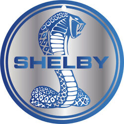 Cobra Shelby Ford Mustang Gt Racing Round Aluminum Metal Sign With Mounting Hole