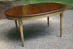 Vintage Karges Walnut Dining Table Louis Xv Style With Six Caneback Chairs
