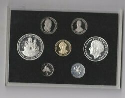 Cased 1992 Jamaica Seven Coin Proof Set With Certificate Near Mint Condition.