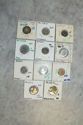 10 Transportation Tokens Circulated Lot - Pennsylvania Old Collection 5