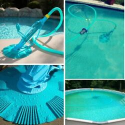 Automatic Swimming Pool Vacuum Cleaner Inground Above Ground Complete Set