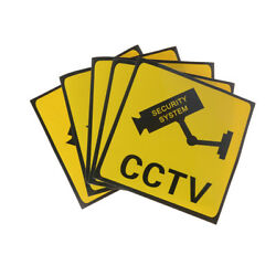 1pc Cctv Security System Camera Sign Waterproof Warning Sticker Sihh4