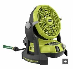Pmf01k Ryobi 18-volt One+ Portable Bucket Top Misting Fan Tool Only New In Box