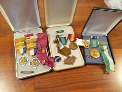 Lot Of Vietnam Medal Medals Usaf Usafss First Place Rare Pins Usa Military
