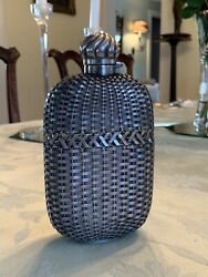 Extremely Rare Antique Aesthetic Sterling Silver Whiskey Flask Gorham Large Mint