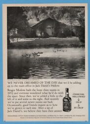 1981 Jack Daniels Adding On To The Office Pond Ducks Beautiful Full Pg Photo Ad