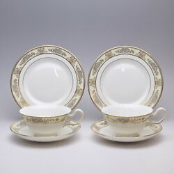 Wedgwood Cliveden Cup And Saucer And Plate X 2 Set Tableware Gold China