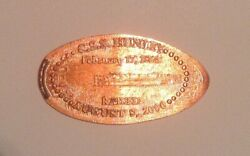 Rare Css Hunley Confederate Submarine Civil War Elongated Penny Vintage Coin
