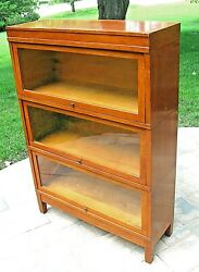 Antique Globe Wernicke Stacking Oak Barrister Lawyers Sectional Bookcase