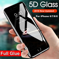 Lot Of 50 Protectors For Iphone 6 Black 5d Curve Edge Glass Tempered Film Screen
