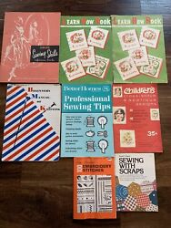 Vintage Sewing Knitting Booklet Magazine Lot Of 8 Butterick Singer 1950s-1970s