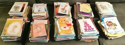 968 Vintage Greeting Cards Lot Usa Christmas Animals Birthday Easter 70s 80s 90s