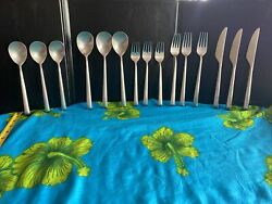 Rachel Cambridge Silver 18/10 Stainless Set Of 15 Dinner And Salad Forks Spoons