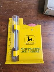 Vintage 1970and039s John Deere Rain Gauge And Recorder Obm-475 In Box