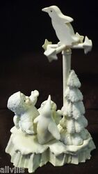 Will It Snow Today 76538 Dept 56 Snowbabies Rare Minature Pewter 5 Pieces