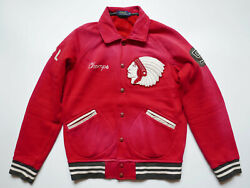Polo Jacket Indian Head Varsity Rugby Champs Patches Football New M