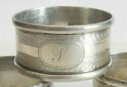 Antique Sterling Silver Napkin Ring S Initial Engraving 10