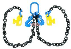 3/8 X 5and039 Container Loading Chain Bridle G100 V-chain Cargo Storage Moving