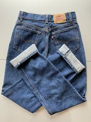 Vintage 80s 701 Button Fly Student Fit Raw Denim Jeans Made In Usa 28x32
