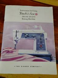 Singer Touch And Sew Deluxe Zig-zag Model 600e Instruction Manual