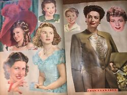 Antique Scrap Book 76 Pages Cut Outs Very Famous People Vtg 1950's 300+ Pictures