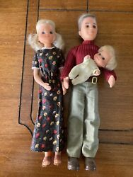 Vintage 1973 The Sunshine Family Steve Stephie And Baby Wearing Original Clothes