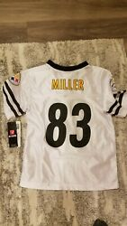 Heath Miller Pittsburgh Steelers Nfl Jersey Youth Large 10/12 Nwt