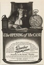 1904 Dueber Hampden Watch Works Canton Oh Opening Of The Case Pocket Watches Ad