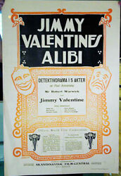 Alias Jimmy Valentine / Paul Armstrong / 1915 / Maurice Tourneur / Movie Poster