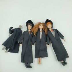 Wizarding World 10harry Potter And Hermione Ron Voldemort Dolls Mattel 2018 Lot