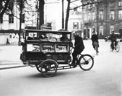 Mobile Household Cleaning Product Shop In The Hague 1938 Old Photo