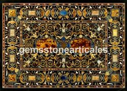 Marble Conference Dining Table Top Pietra Dura Inlay Design Hallway Decor H1712