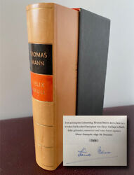 """Mann, Thomas 1875-1955 - Limited Edition Book Signed """"confessions Felix Krull"""