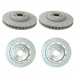 Genuine Front 370mm And Rear 360mm Drilled Brake Kit Disc Rotors For W222 Amg Perf