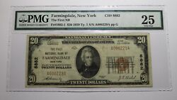 20 1929 Farmingdale New York Ny National Currency Bank Note Bill 8882 Vf25 Pmg