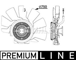 Mahle Radiator Fan For Scania L P G R S - Series S410 S450 S500 16- 2437780