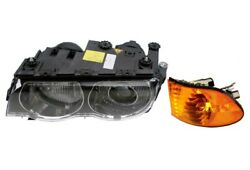 Front Driver Left Genuine Headlight Lamp Turn Signal W/ Yellow Lens For E38 Bmw
