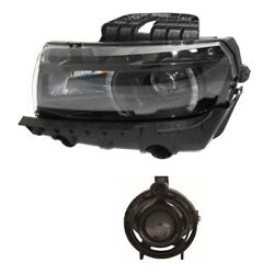 Driver Left Genuine Headlight Headlamp With Hid And Fog Light For Chevy Camaro Gm