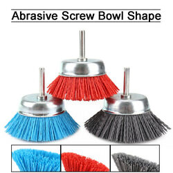 Abrasive Cup Wire Nylon Brush 1/4 Shank For Rust Remover Deburring 80/120/240
