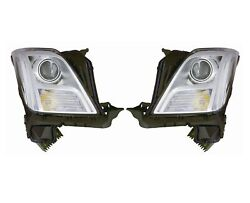 Left And Right Genuine Hid Headlights Lamps Pair Set For Xts With Adaptive Lamp Gm