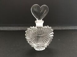 """Disney Minnie Mouse Glass Perfume Bottle Heart Shaped Stopper 5"""""""