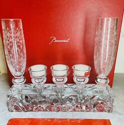 New Baccarat Forest Of Dreams Crystal Vases And Candle Holders 6pc.marcel Wanders