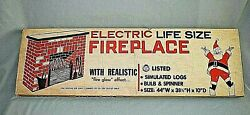 Vintage Toymaster Life Size Electric Fireplace Sealed Unopened New Old Stock