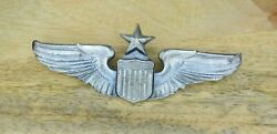 Scarce Authentic Ww2 Josten Sterling Silver Senior Pilot Wings 3 Army Air Corps