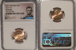 2017 P Lincoln Shield Cent 1c Ngc Ms 69 Rd Lincoln Label