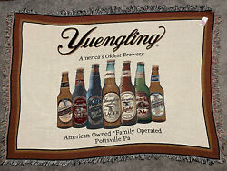 Yuengling Beer Bottle Selection Cotton Throw Blanket Wall Art 66 X 48 Man Cave